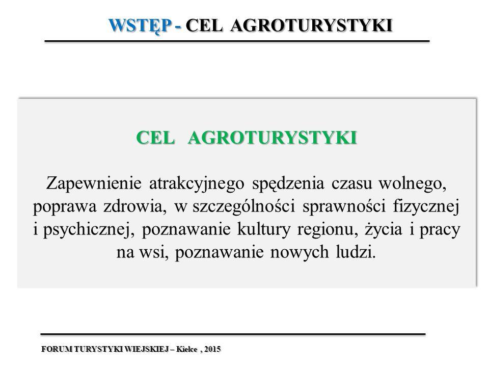 WSTĘP - Determinanty rozwoju turystyki wiejskiej, agroturystyki Wśród zdefiniowanych determinant rozwoju agroturystyki możemy wymienić m.in Wśród zdefiniowanych determinant rozwoju agroturystyki możemy wymienić m.in.[1]:  Determinanty o charakterze ekonomicznym (ranga agroturystyki w strategii rozwoju gminy, rodzaje prowadzonej działalności gospodarczej, źródła utrzymania ludności);  Atrakcyjność turystyczną;  Determinanty o charakterze społecznym (postawy społeczności lokalnej, instytucje i organizacje wspierające rozwój agroturystyki, poziom wykształcenia osób prowadzących działalność agroturystyczną).