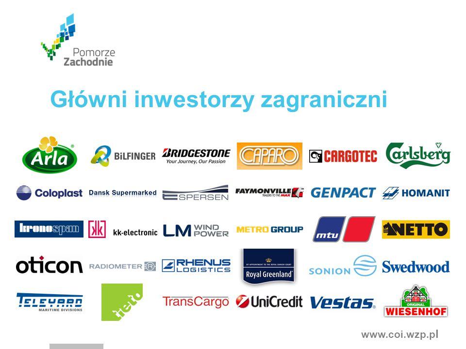 www.coi.wzp.p l Główni inwestorzy zagraniczni