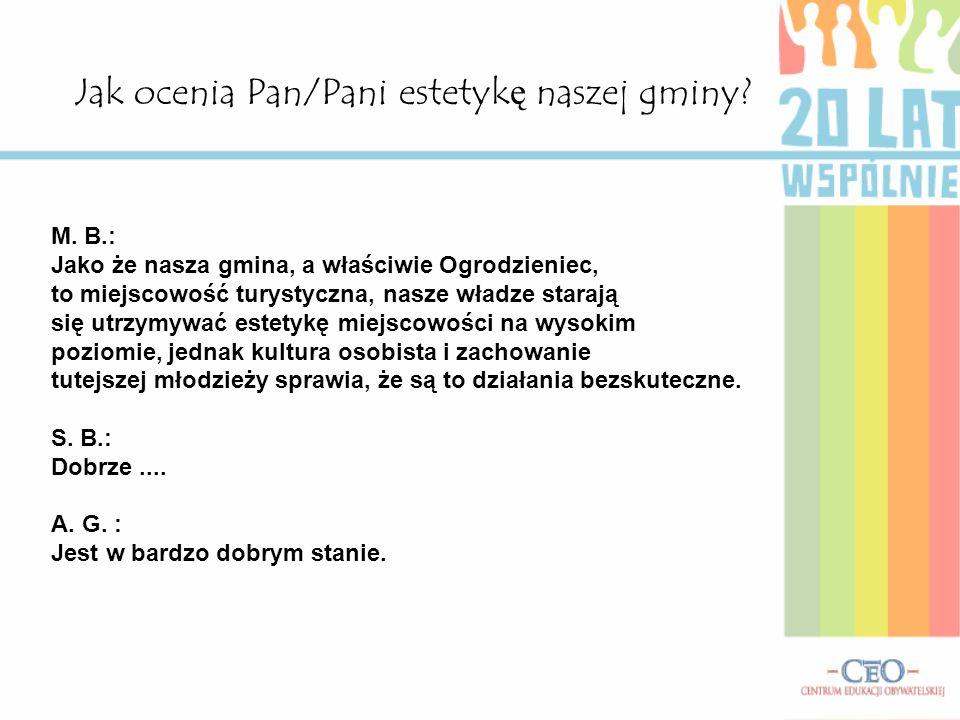 Jak ocenia Pan/Pani estetykę naszej gminy.M.
