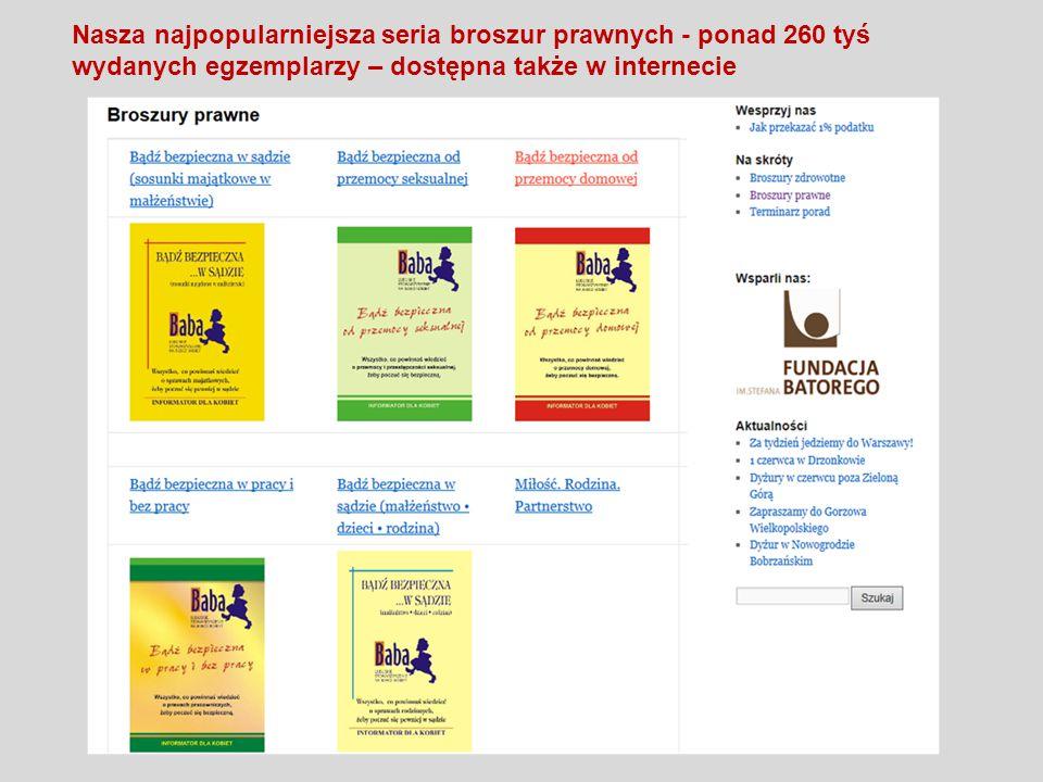 Nasza najpopularniejsza seria broszur prawnych - ponad 260 tyś wydanych egzemplarzy – dostępna także w internecie