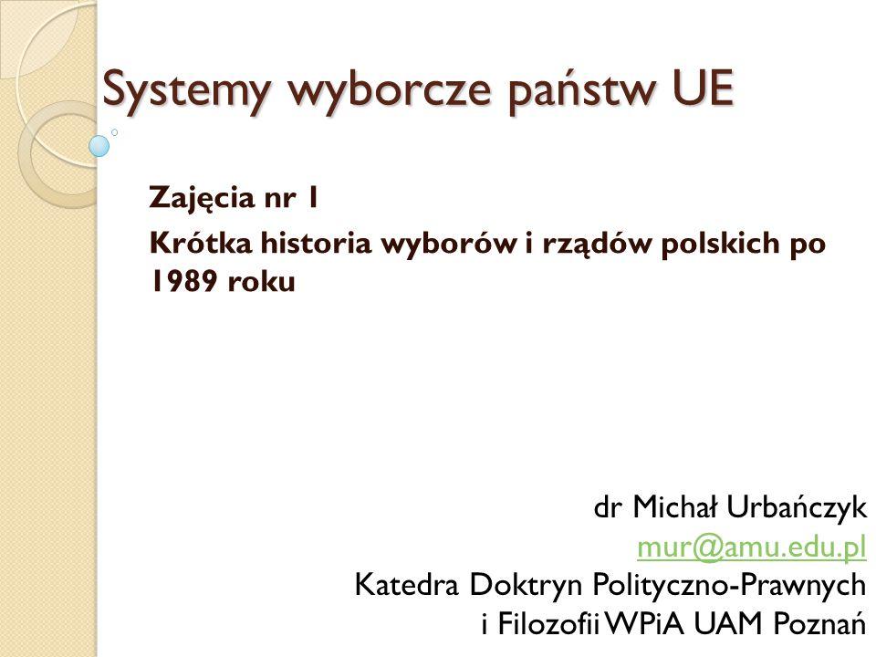 27 październik 1991 – I całkowicie wolne wybory parlamentarne, B.