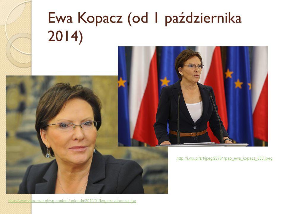 Ewa Kopacz (od 1 października 2014) http://www.zaborcza.pl/wp-content/uploads/2015/01/kopacz-zaborcza.jpg http://i.wp.pl/a/f/jpeg/29761/pap_ewa_kopacz
