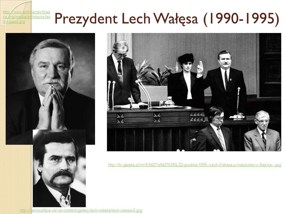 Prezydent Lech Wałęsa (1990-1995) http://bi.gazeta.pl/im/5/5427/z5427635Q,22-grudnia-1990--Lech-Walesa-z-malzonka-w-Sejmie--.jpg http://www.architects