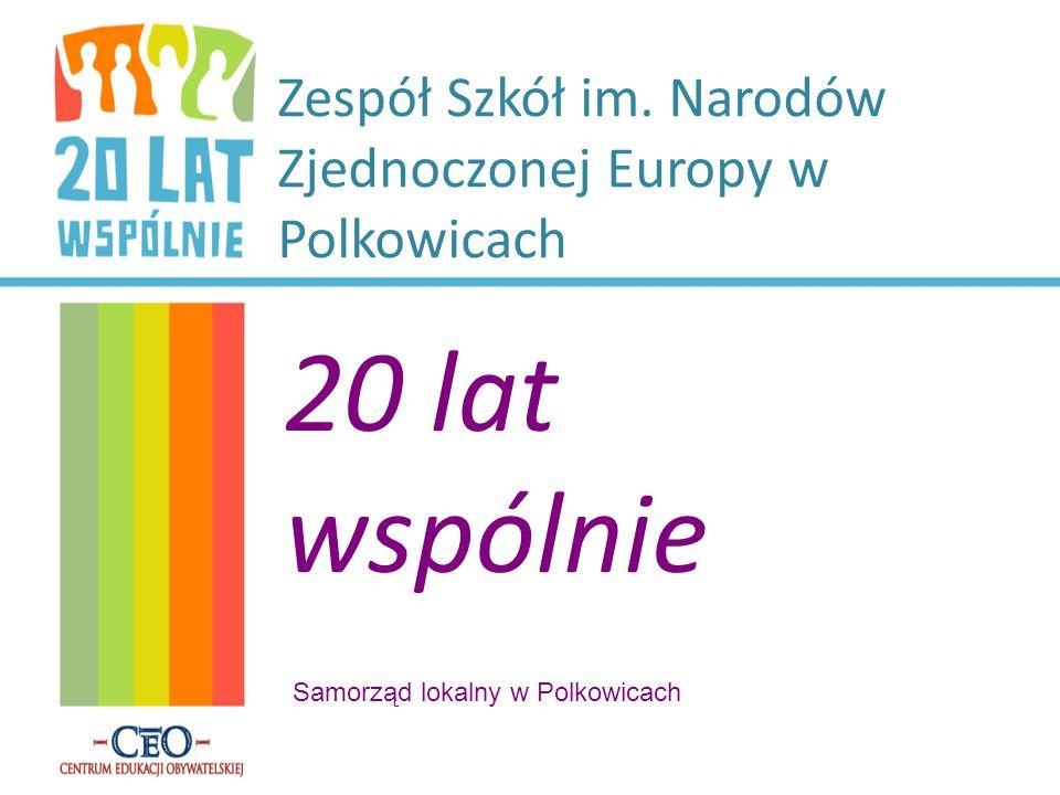 Zespół Szkół im. Narodów Zjednoczonej Europy w Polkowicach 20 lat wspólnie Samorząd lokalny w Polkowicach