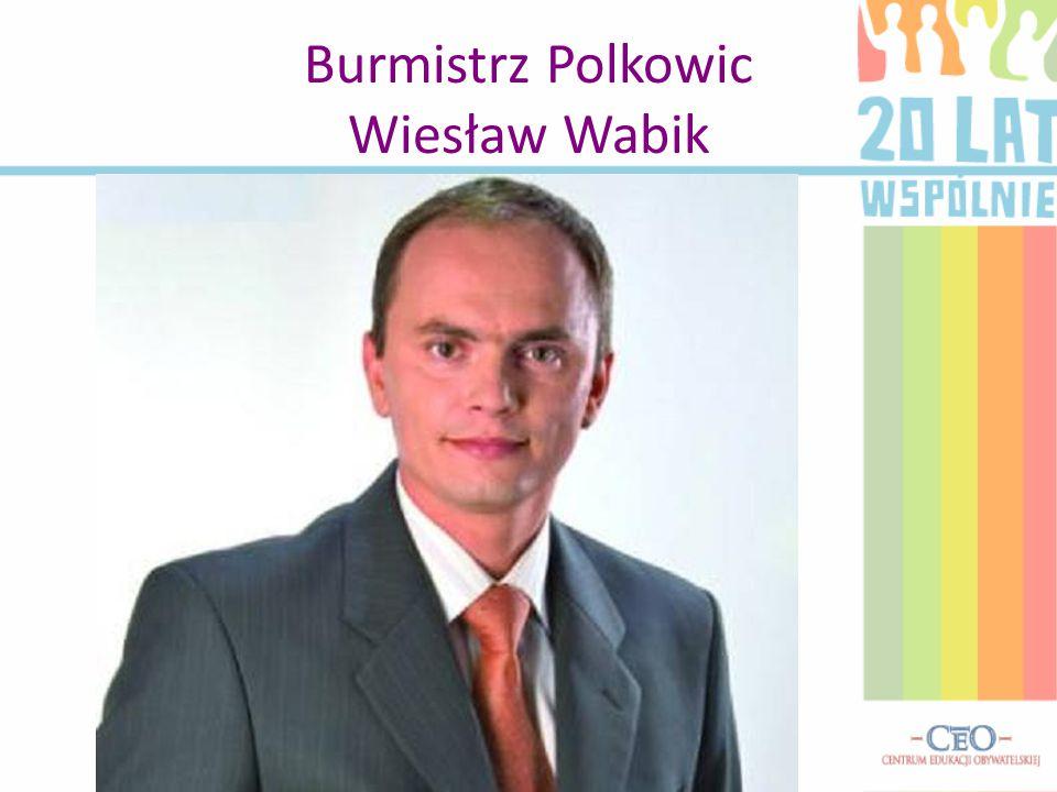 Burmistrz Polkowic Wiesław Wabik