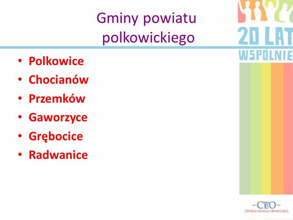 Gminy powiatu polkowickiego Polkowice Chocianów Przemków Gaworzyce Grębocice Radwanice