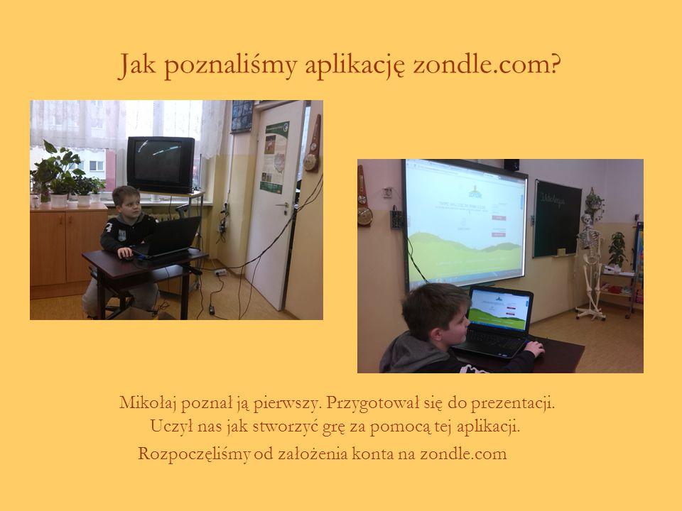 Jak poznaliśmy aplikację zondle.com.Mikołaj poznał ją pierwszy.