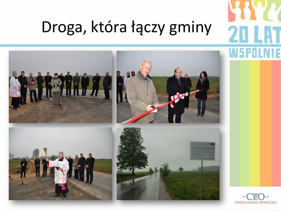 Droga, która łączy gminy