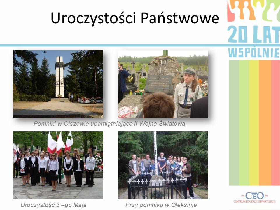 Uroczystości Państwowe Pomniki w Olszewie upamiętniające II Wojnę Światową Uroczystość 3 –go MajaPrzy pomniku w Oleksinie