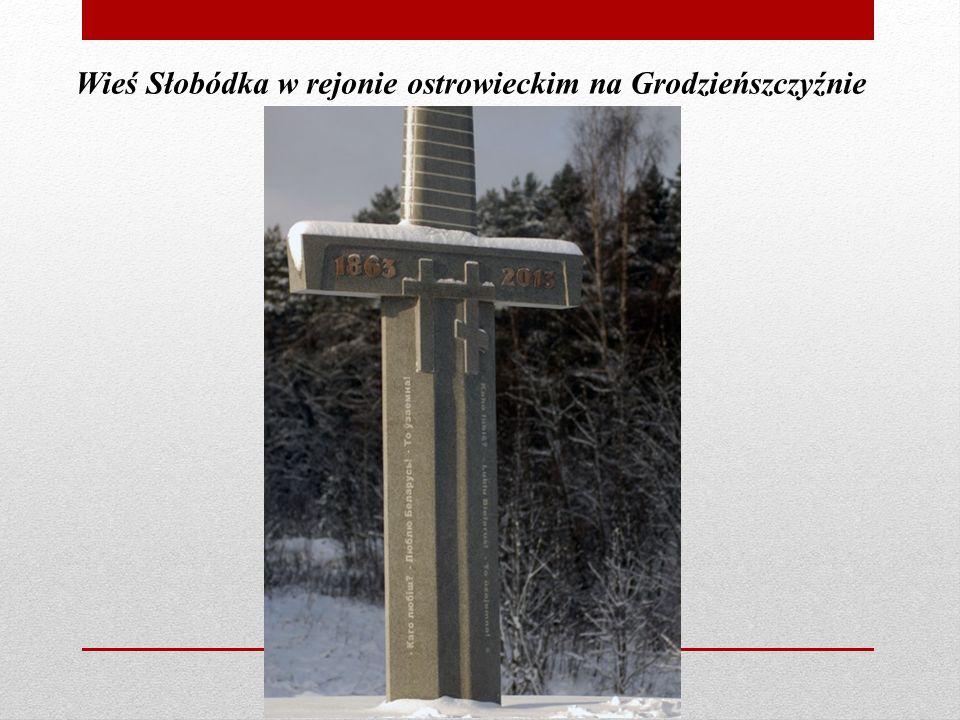 Wieś Słobódka w rejonie ostrowieckim na Grodzieńszczyźnie