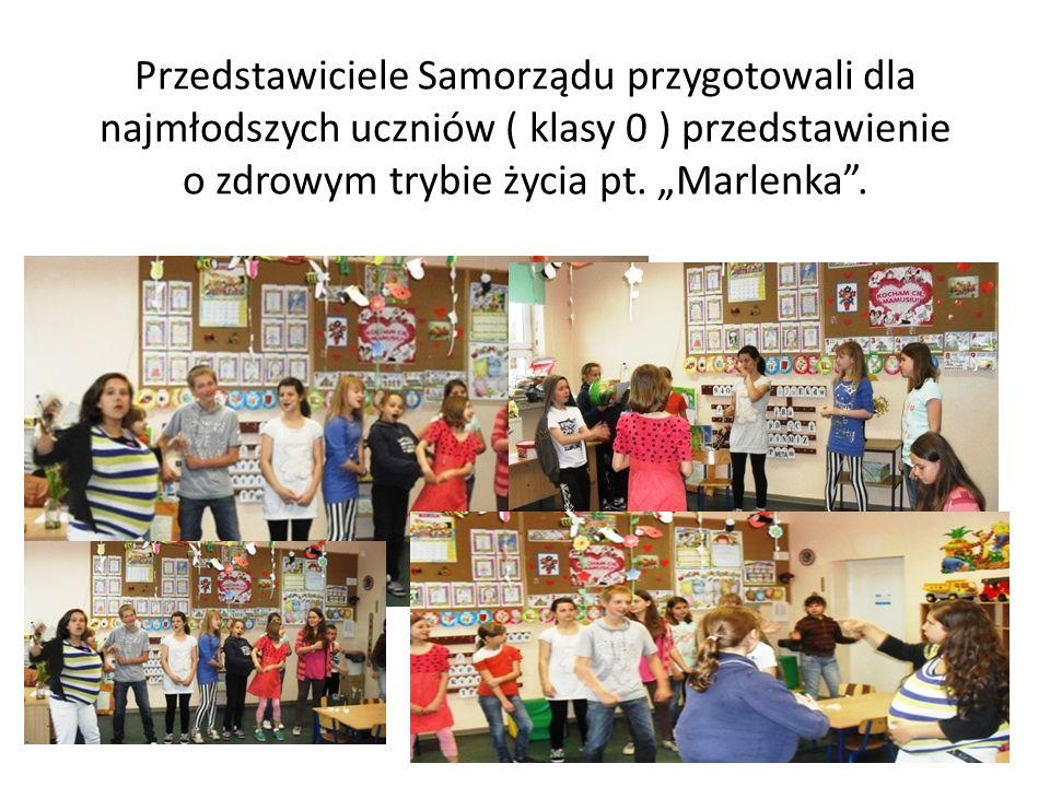 Przedstawiciele Samorządu przygotowali dla najmłodszych uczniów ( klasy 0 ) przedstawienie o zdrowym trybie życia pt.