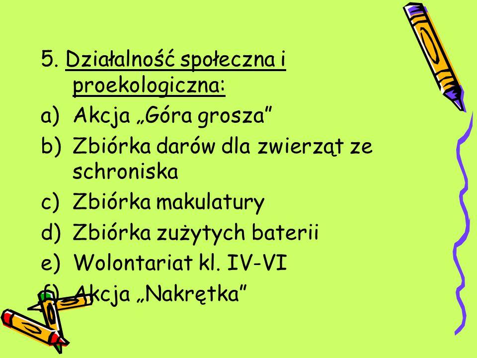Koordynatorzy na rok szkolny 2013/2014: Marzena Wychódzka Wojciech Kopiński