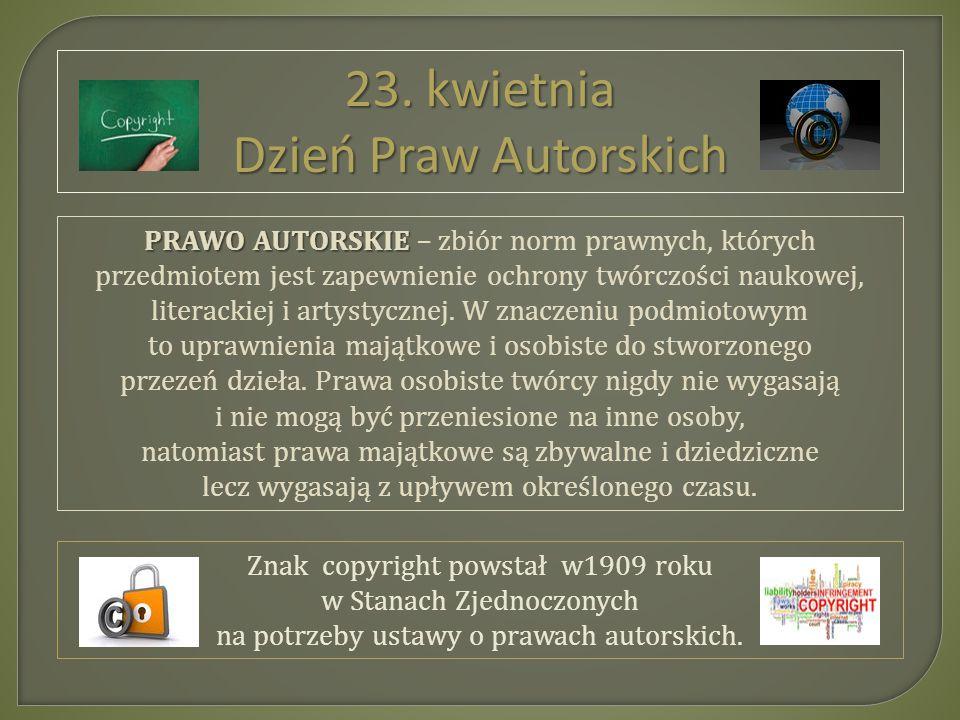 PRAWO AUTORSKIE PRAWO AUTORSKIE – zbiór norm prawnych, których przedmiotem jest zapewnienie ochrony twórczości naukowej, literackiej i artystycznej.