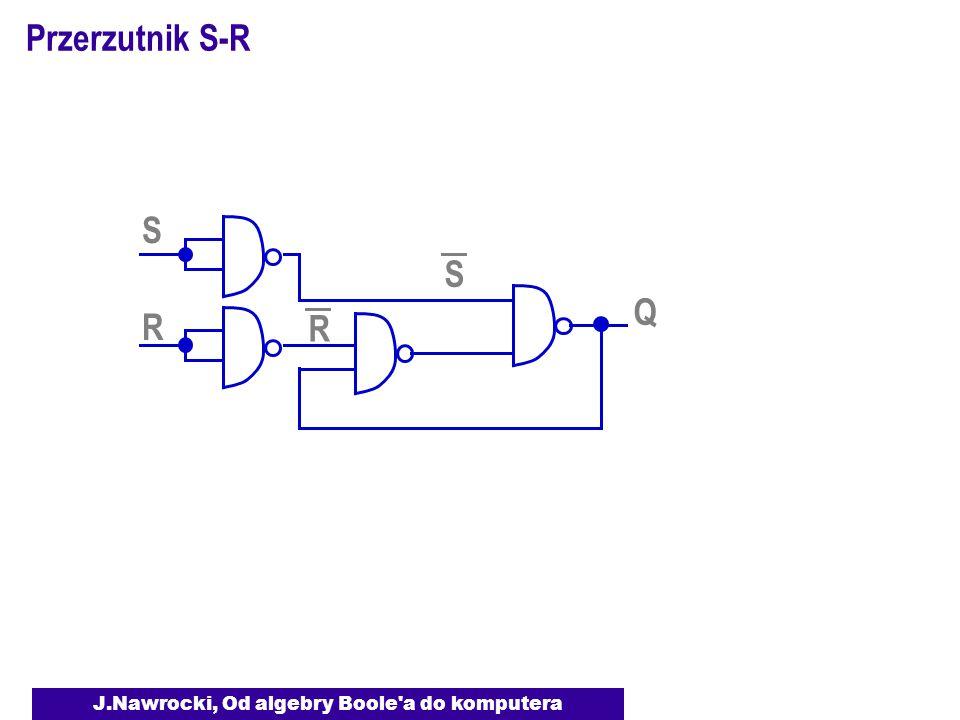 J.Nawrocki, Od algebry Boole a do komputera Przerzutnik S-R S Q R S R