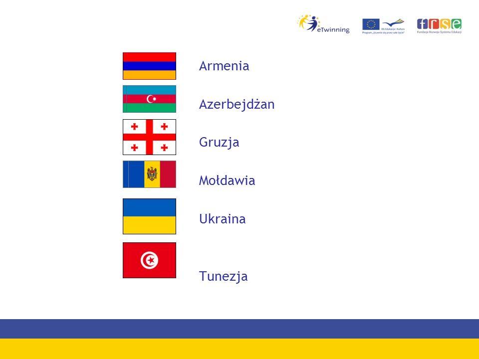 Armenia Azerbejdżan Gruzja Mołdawia Ukraina Tunezja