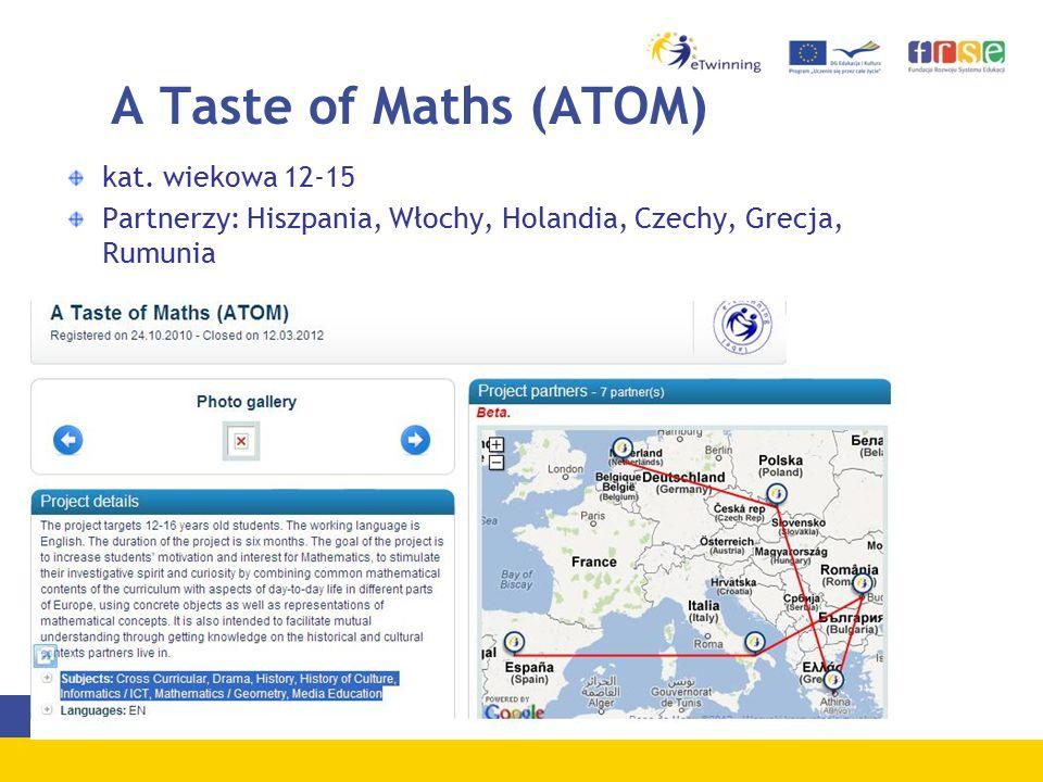 A Taste of Maths (ATOM) kat.