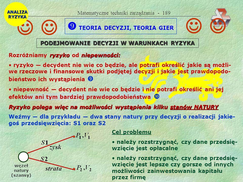 Matematyczne techniki zarządzania - 188 Teoria masowej obsługi (Obretenow i Dimitrow, PWN, W-wa 1989) wyróżnia m..in.: strumienie zgłoszeń: prosty (Poissona), rekurencyjny, rozrzedzony, Ber- noulliego itd.