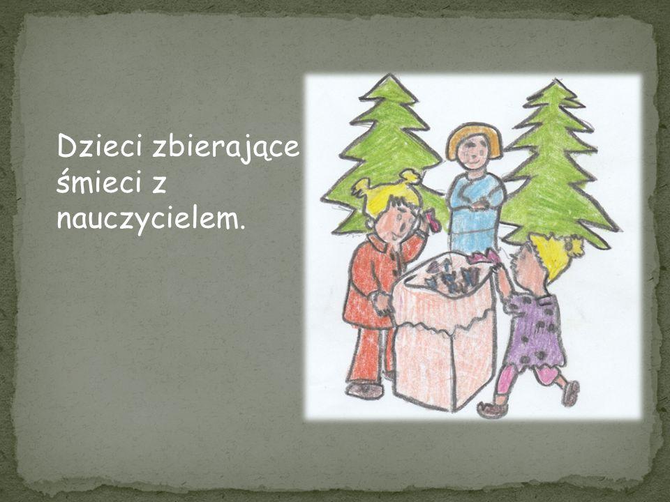 Ludzie sadzący nowe drzewa w lesie i dbający o nie.