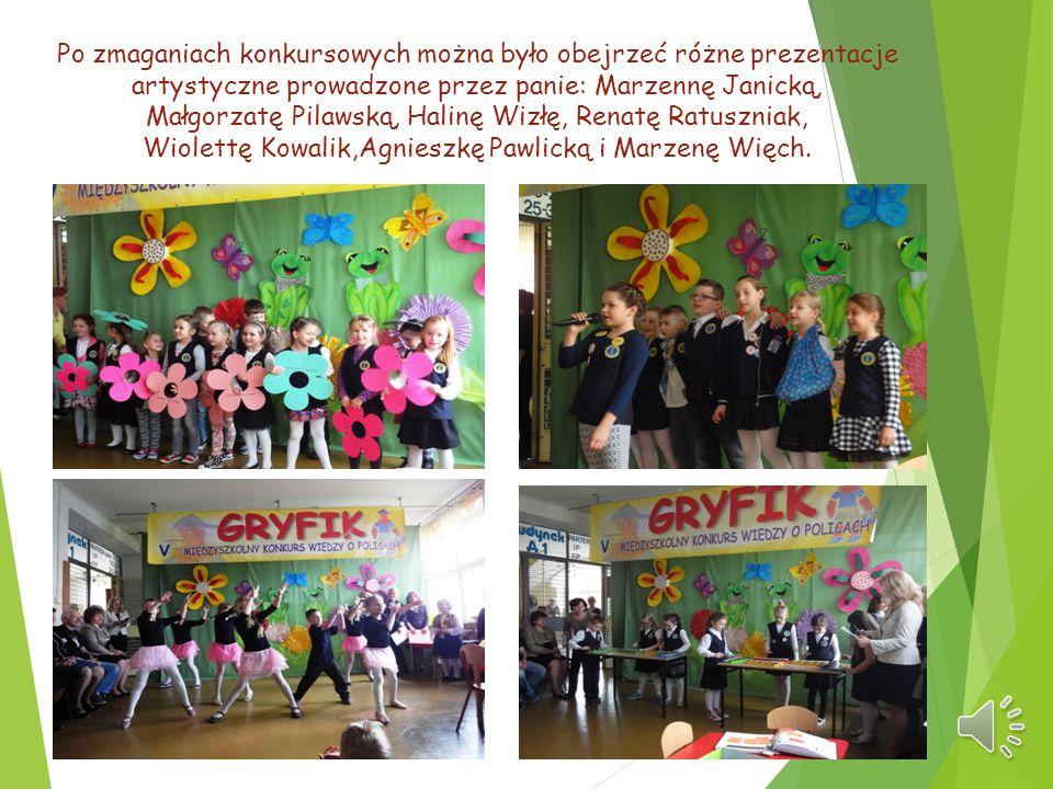 Po zmaganiach konkursowych można było obejrzeć różne prezentacje artystyczne prowadzone przez panie: Marzennę Janicką, Małgorzatę Pilawską, Halinę Wiz