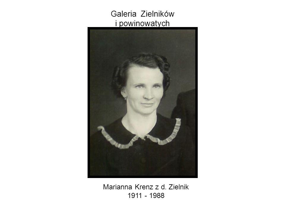 Galeria Zielników i powinowatych Marianna Krenz z d. Zielnik 1911 - 1988
