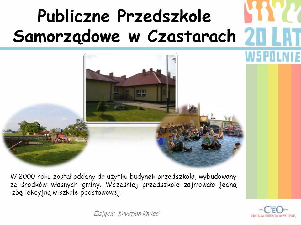 Publiczne Przedszkole Samorządowe w Czastarach Zdjęcia Krystian Kmieć W 2000 roku został oddany do użytku budynek przedszkola, wybudowany ze środków w