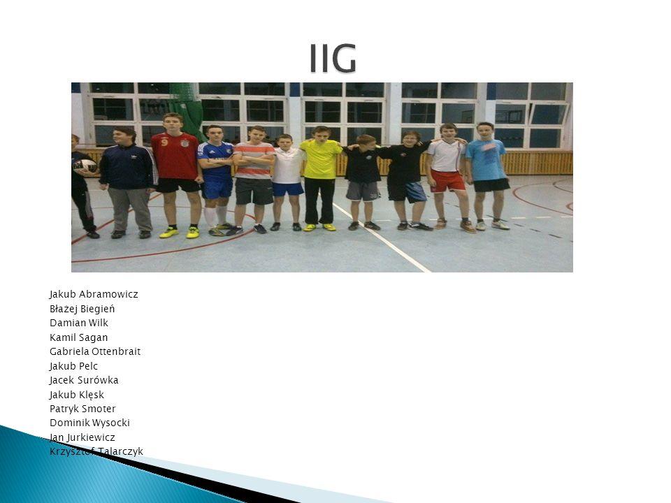  Drużyna Punkty GZ/GS Miejsce  IIG 4 6/5 2  IIH 0 5/8 3  IID 4 8/6 1  Drużyna Drużyna Wynik  IID IIG 3:3  IIH IIG 2:3  IIH IID 3:5