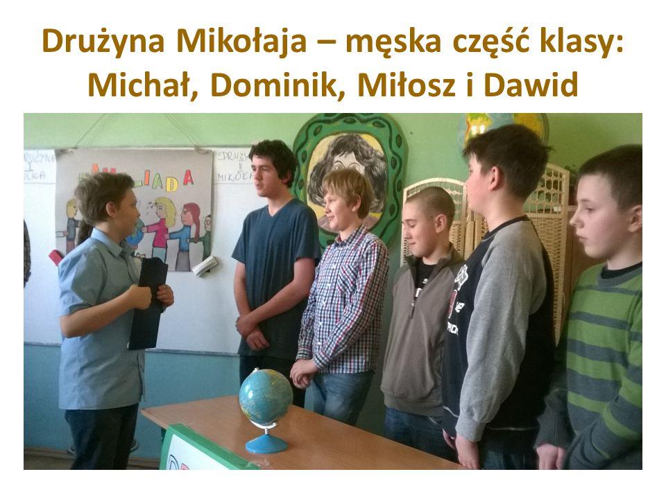 Drużyna Julki to : Martyna, Dominika, Małgosia, Ola – płeć piękna kontra chłopaki