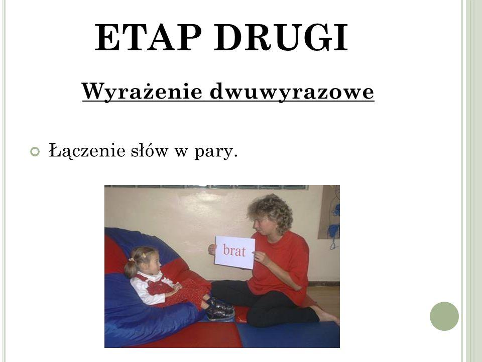 ETAP DRUGI Wyrażenie dwuwyrazowe Łączenie słów w pary.