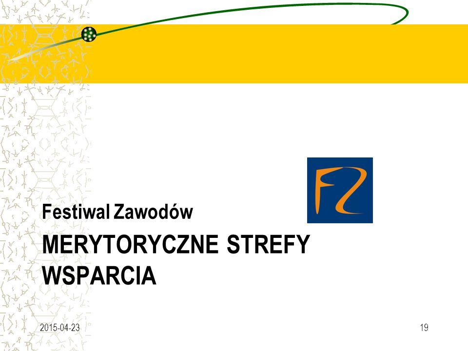 MERYTORYCZNE STREFY WSPARCIA Festiwal Zawodów 2015-04-2319