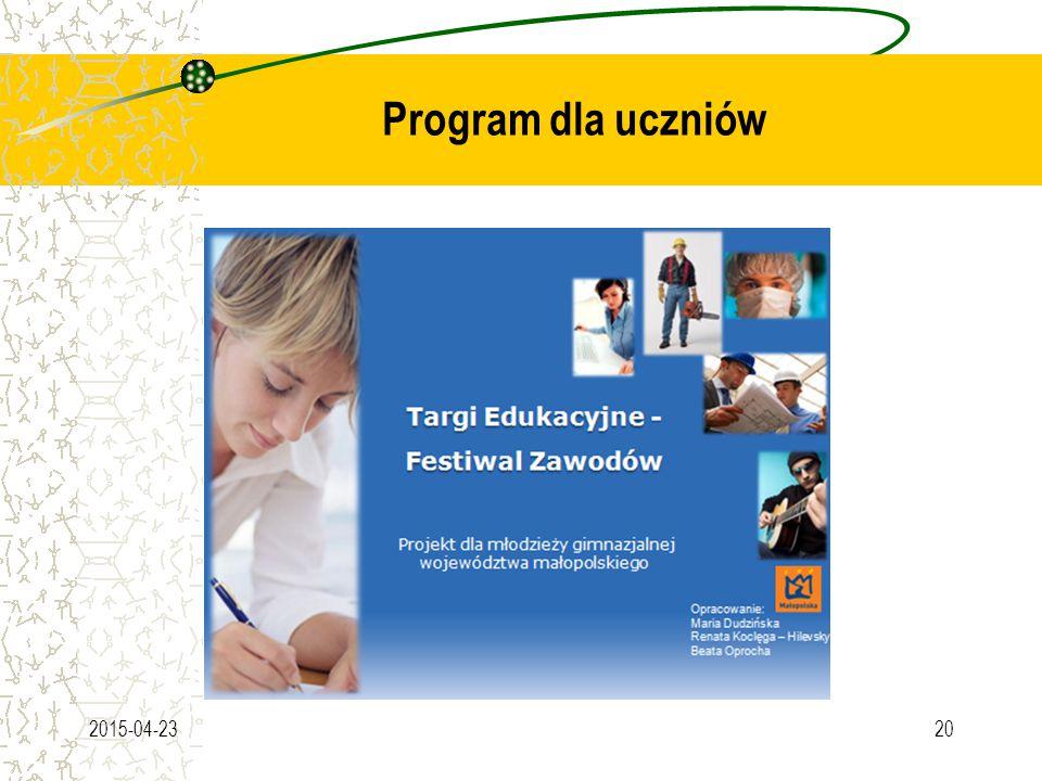 Program dla uczniów 2015-04-2320