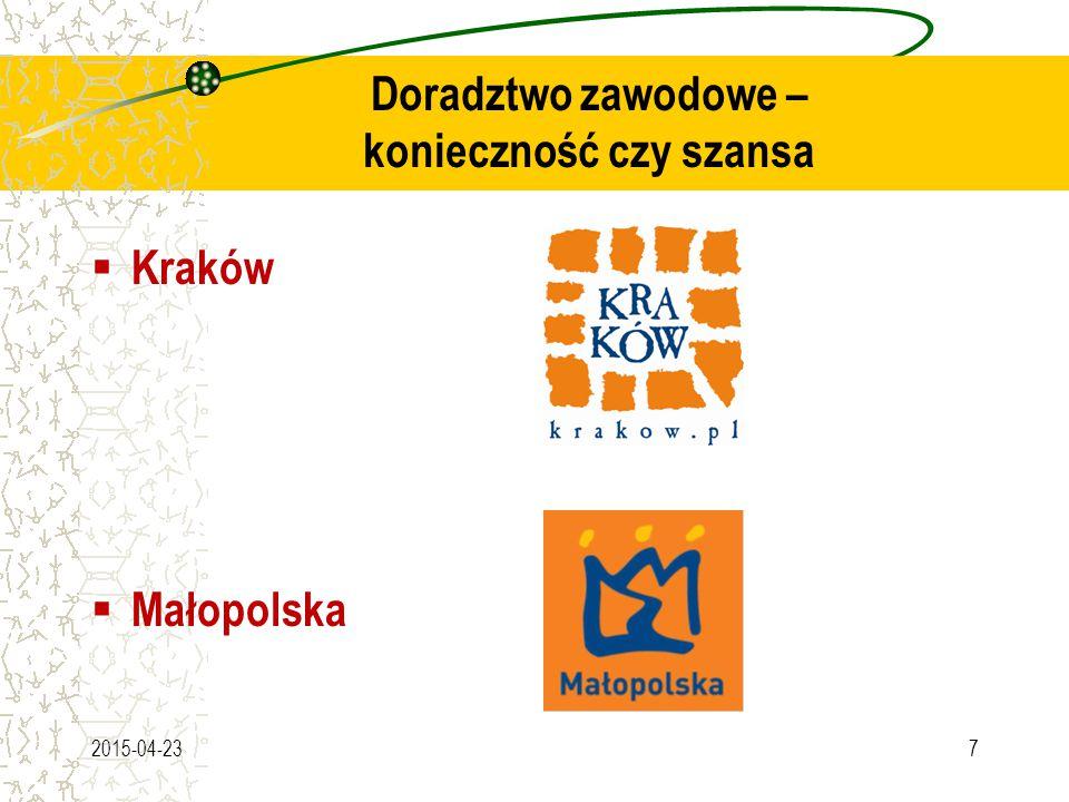 Doradztwo zawodowe – konieczność czy szansa  Kraków  Małopolska 2015-04-237