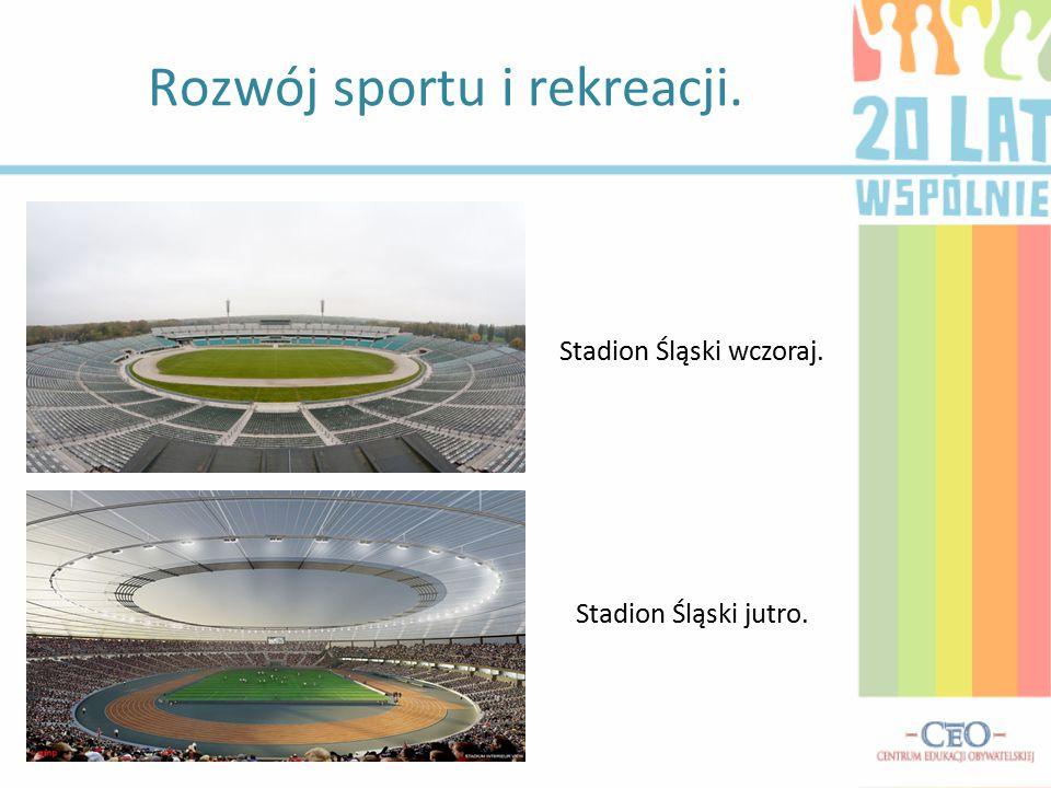 Rozwój sportu i rekreacji. Stadion Śląski wczoraj. Stadion Śląski jutro.