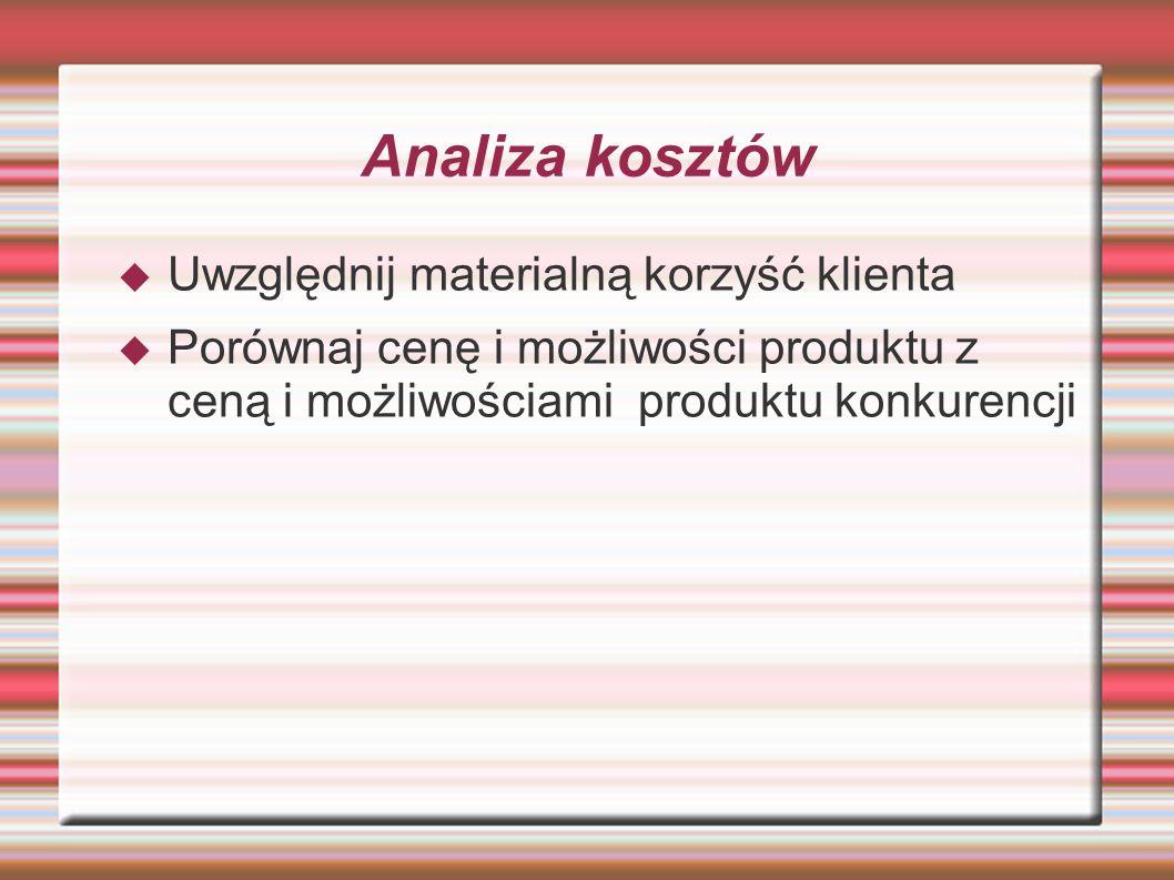 Walory i zalety  Podsumuj specyfikę i zalety przedstawionych produktów