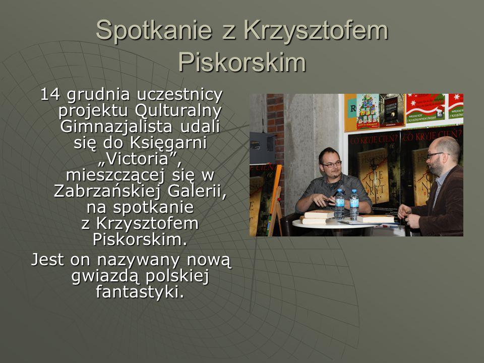 Spotkanie z Muzyką i Poezją Chodziliśmy na Spotkania z Muzyką i Poezją w Operze Śląskiej pod patronatem Anny Dymnej.