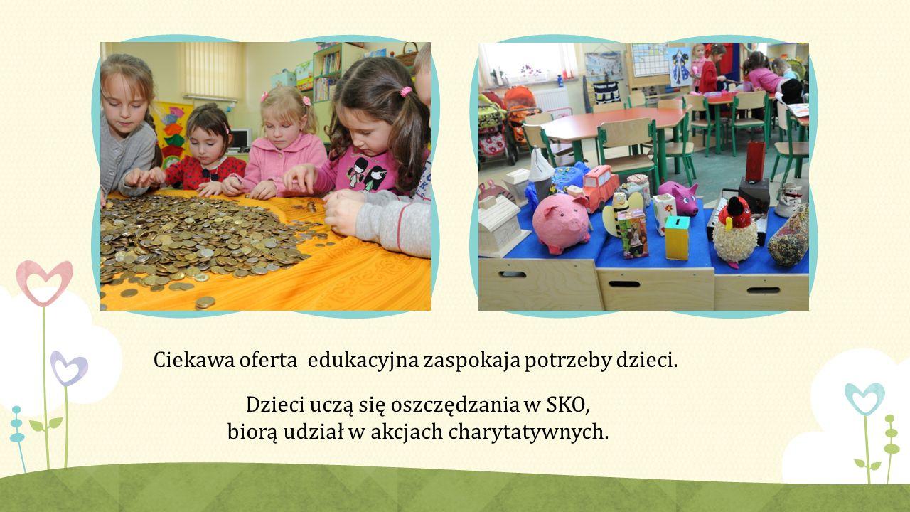 Ciekawa oferta edukacyjna zaspokaja potrzeby dzieci.