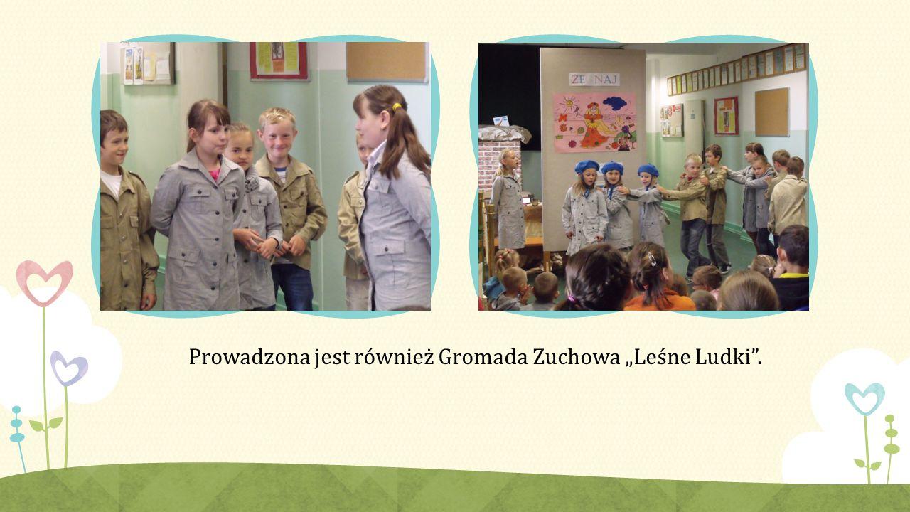 """Prowadzona jest również Gromada Zuchowa """"Leśne Ludki ."""