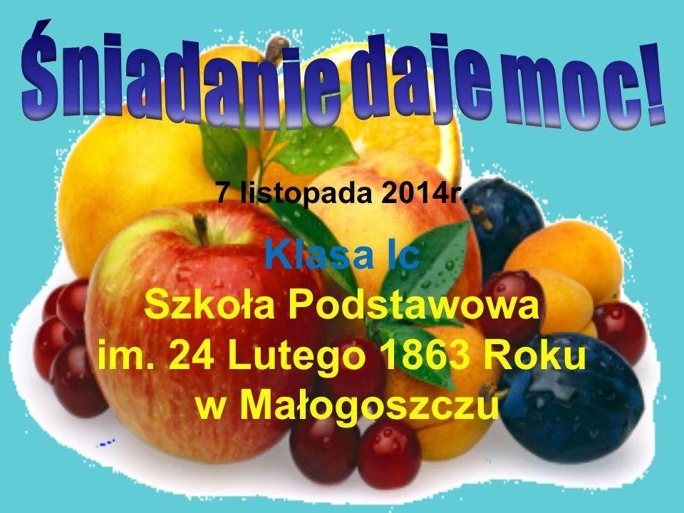 Klasa Ic Szkoła Podstawowa im. 24 Lutego 1863 Roku w Małogoszczu 7 listopada 2014r.
