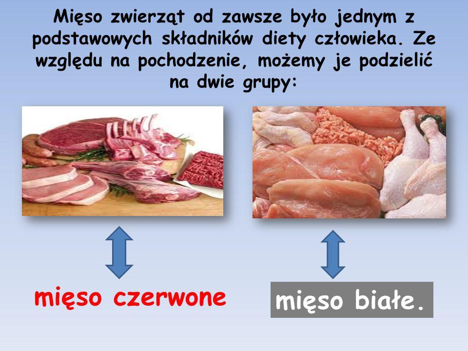 Mięso zwierząt od zawsze było jednym z podstawowych składników diety człowieka. Ze względu na pochodzenie, możemy je podzielić na dwie grupy: mięso cz