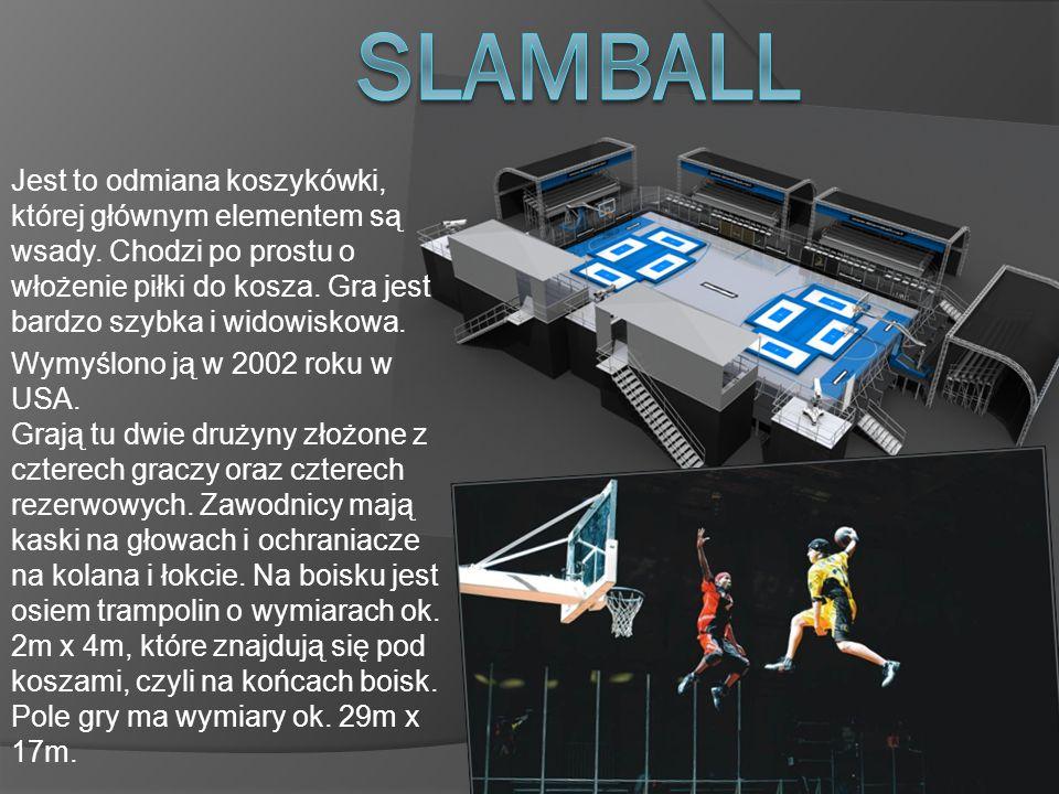 Jest to odmiana koszykówki, której głównym elementem są wsady.