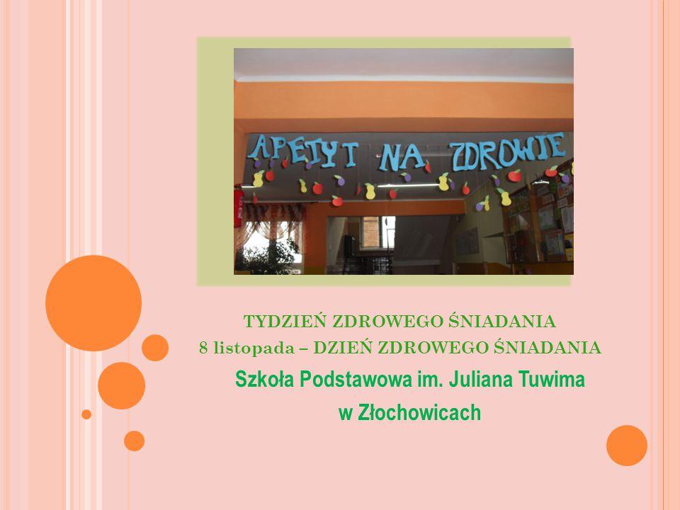 TYDZIEŃ ZDROWEGO ŚNIADANIA 8 listopada – DZIEŃ ZDROWEGO ŚNIADANIA Szkoła Podstawowa im.