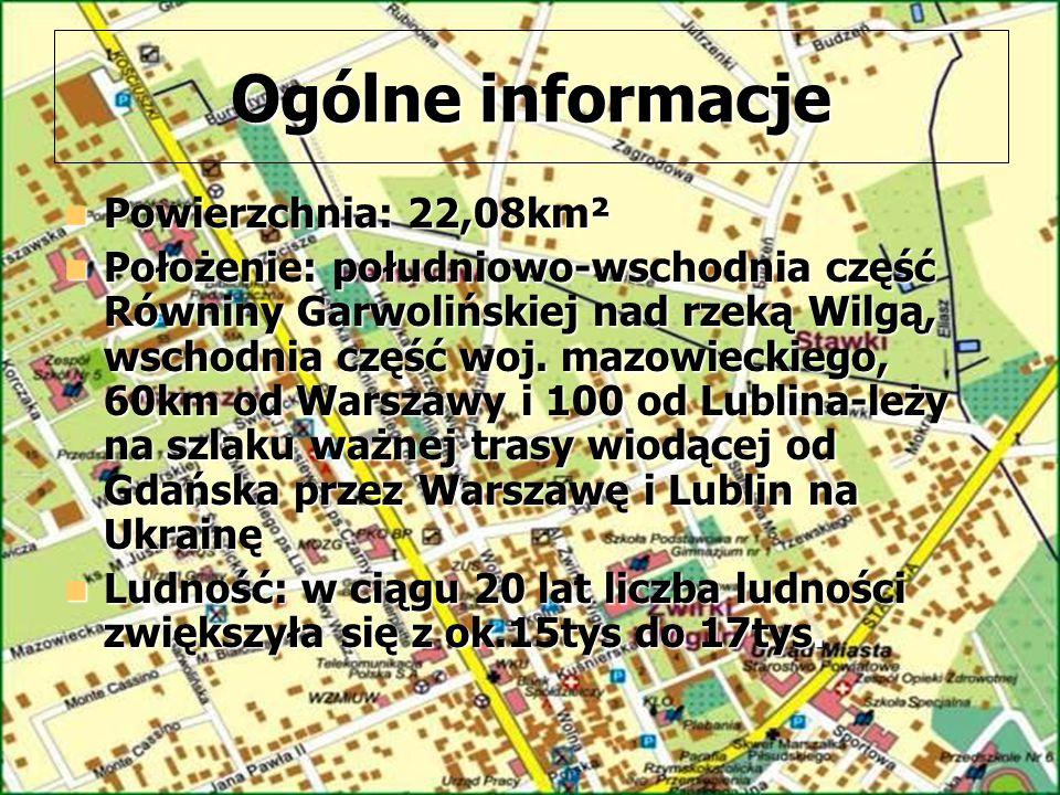 Ogólne informacje Powierzchnia: 22,08km² Powierzchnia: 22,08km² Położenie: południowo-wschodnia część Równiny Garwolińskiej nad rzeką Wilgą, wschodnia część woj.