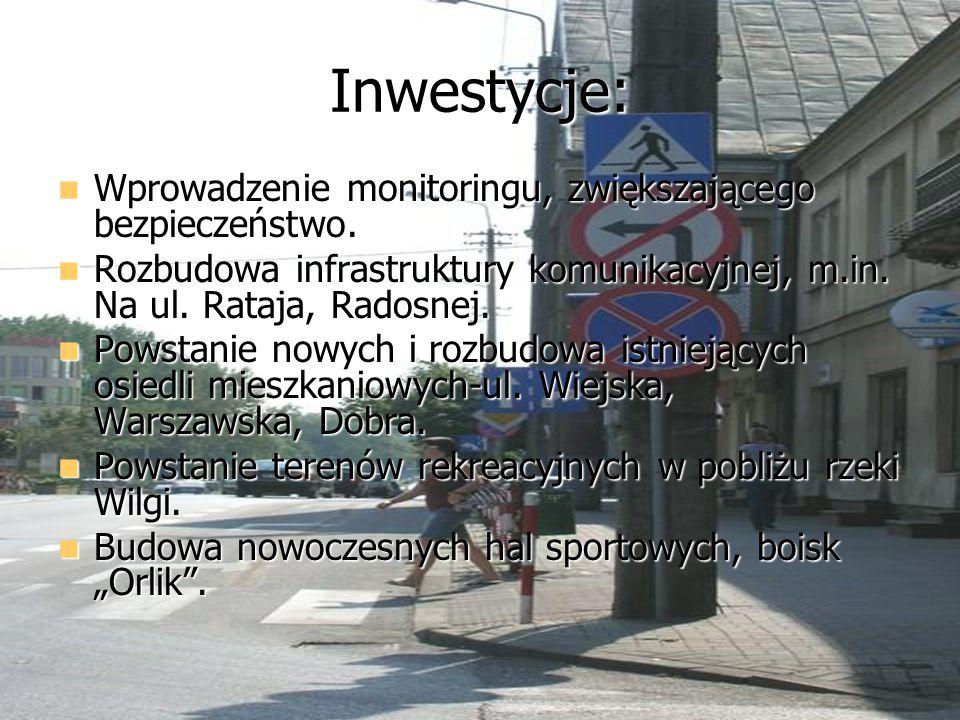 Inwestycje: Wprowadzenie monitoringu, zwiększającego bezpieczeństwo.