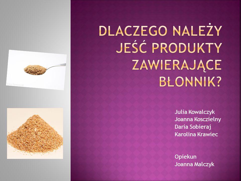Julia Kowalczyk Joanna Kosczielny Daria Sobieraj Karolina Krawiec Opiekun Joanna Malczyk