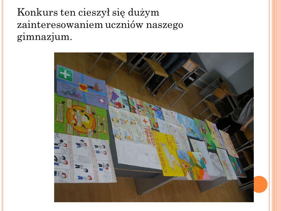 Konkurs ten cieszył się dużym zainteresowaniem uczniów naszego gimnazjum.