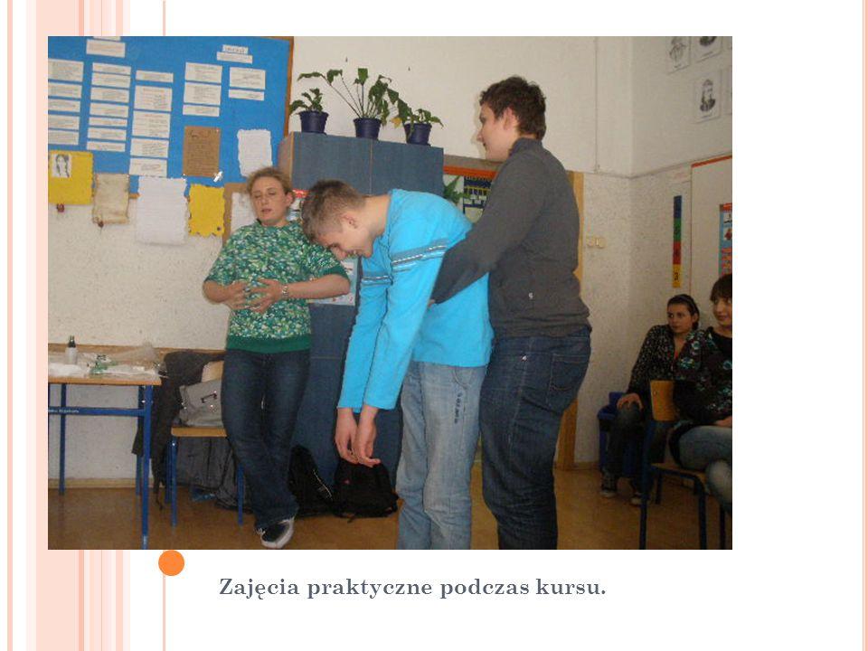 Zajęcia praktyczne podczas kursu.
