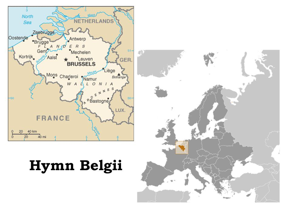Trzy wspólnoty: francuska flamandzka niemieckojęzyczna Cztery regiony językowe: region francuskojęzyczny (język waloński), region niderlandzkojęzyczny (język flamandzki), dwujęzyczny region Brukseli, region niemieckojęzyczny.