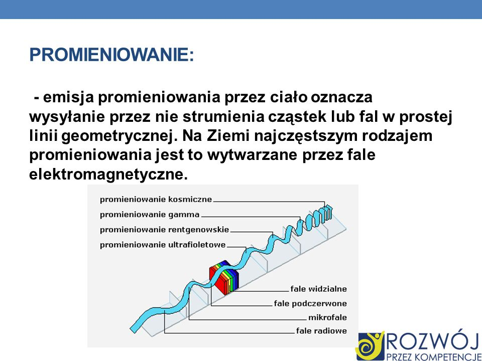 PROMIENIOWANIE NIEJONIZUJĄCE : to rodzaj promieniowania elektromagnetycznego(fali elektromagnetycznej), które nie wywołuje jonizacji(tzn.
