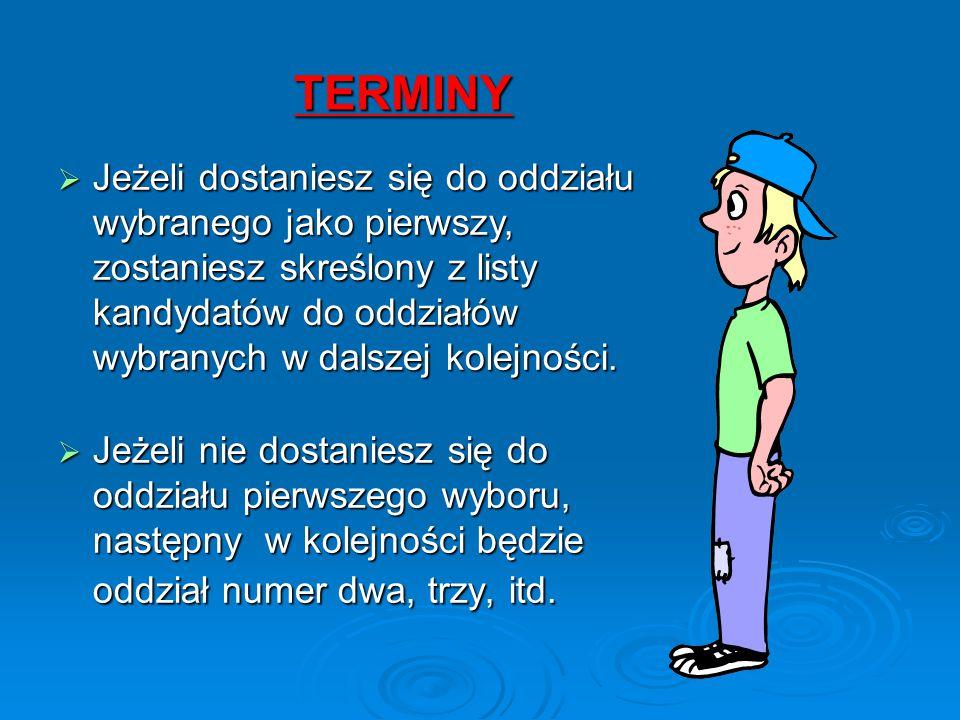 TERMINY W dniach od 26.06.2015 r.do 30.06.2015 r.