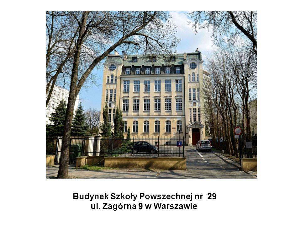 Budynek Szkoły Powszechnej nr 29 ul. Zagórna 9 w Warszawie