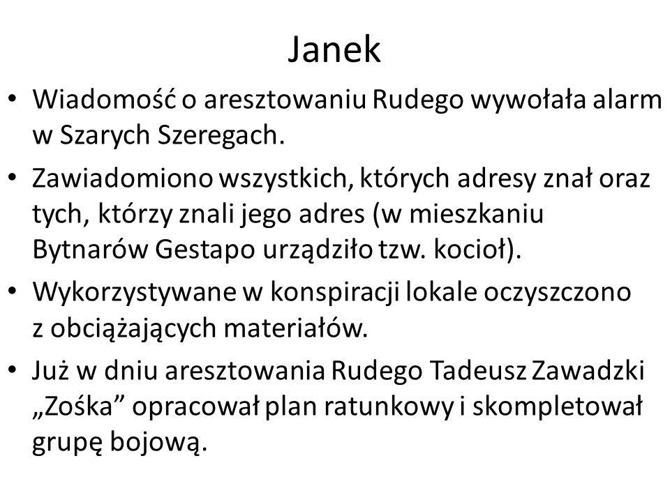 Wiadomość o aresztowaniu Rudego wywołała alarm w Szarych Szeregach.